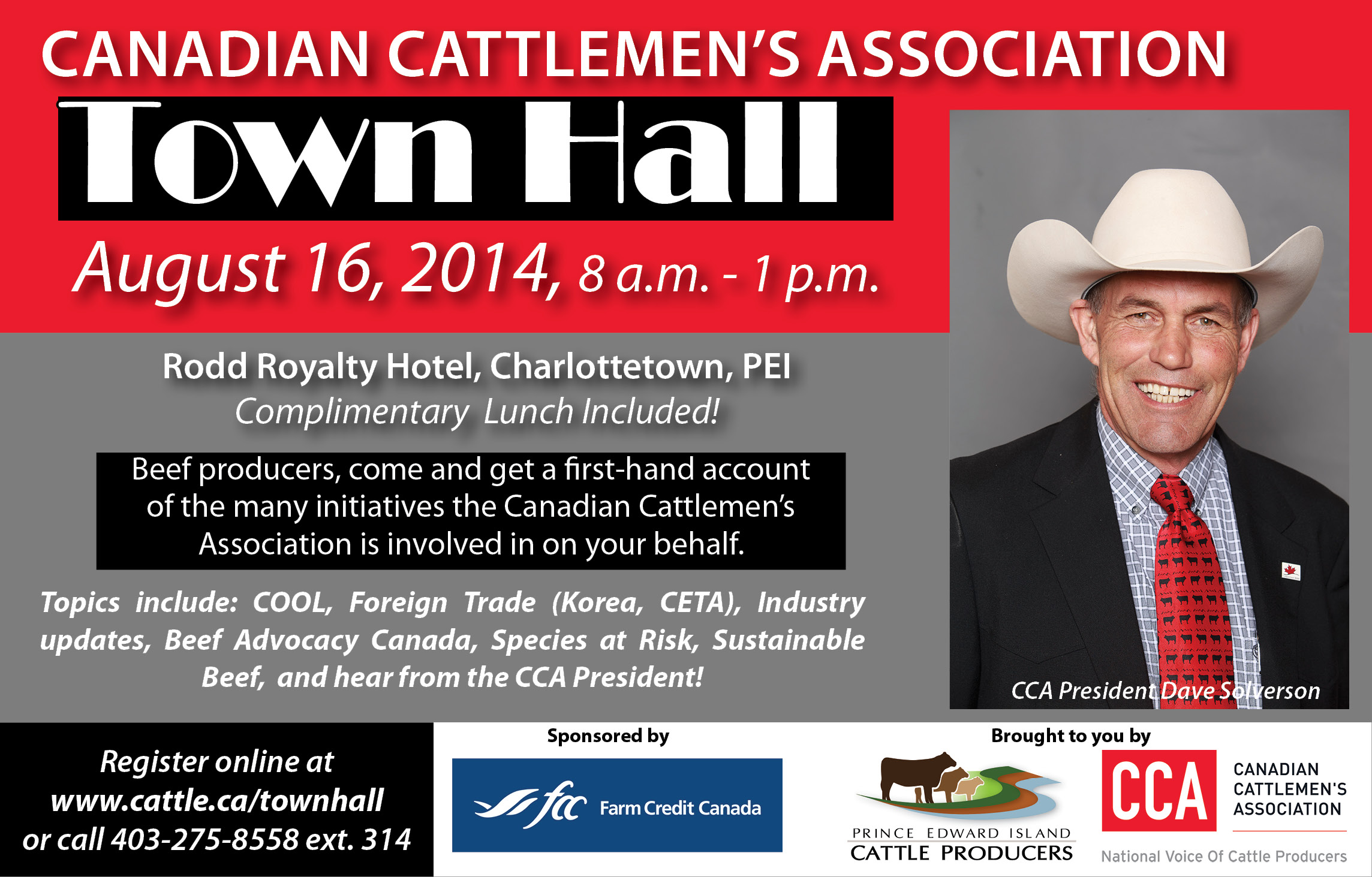CCA Town Hall Ad - PEI 2014