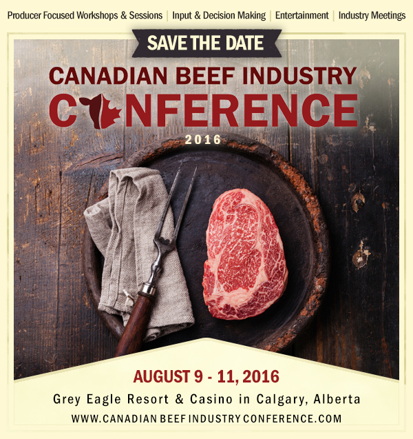 Canadian Beef Industry Conference - SaveTheDate2016
